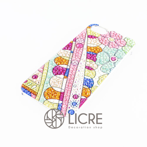 iphoneケースデコレーション - Colorful spring002スワロフスキーデコ