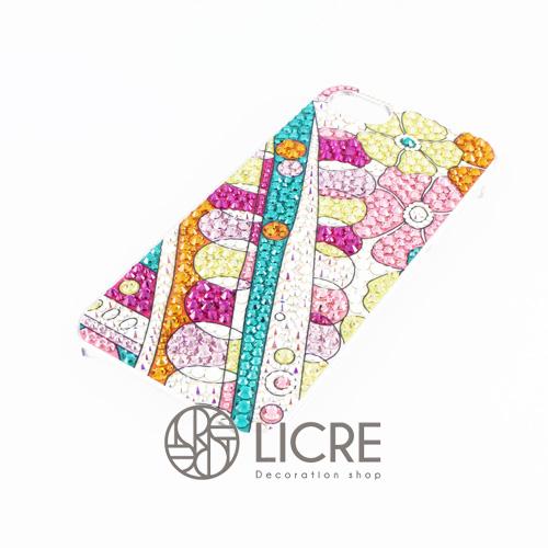 iphoneケースデコレーション - Colorful spring003スワロフスキーデコ