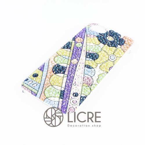 iphoneケースデコレーション - Colorful spring004スワロフスキーデコ