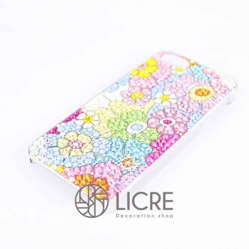 iphoneケースデコレーション - Flower garden001スワロフスキーデコ