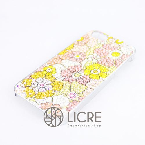 iphoneケースデコレーション - Flower garden002スワロフスキーデコ