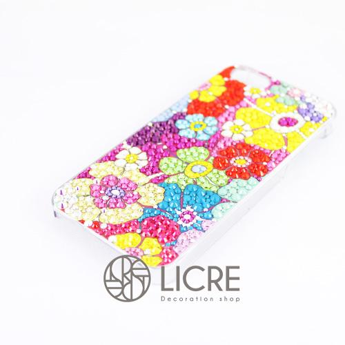 iphoneケースデコレーション - Flower garden004スワロフスキーデコ