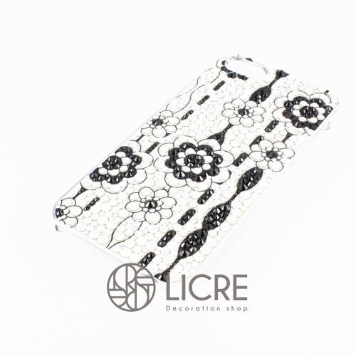 iphoneケースデコレーション - Lace flower002スワロフスキーデコ