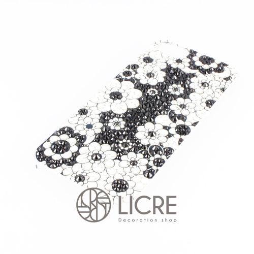 iphoneケースデコレーション - Lace flower003スワロフスキーデコ