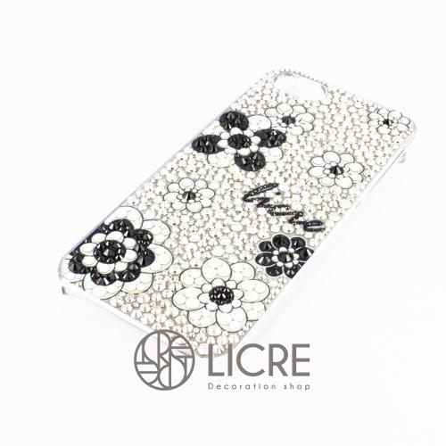 iphoneケースデコレーション - Lace flower004スワロフスキーデコ