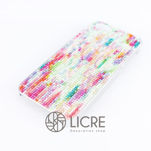 iphoneケースデコレーション - Tweed 002スワロフスキーデコ