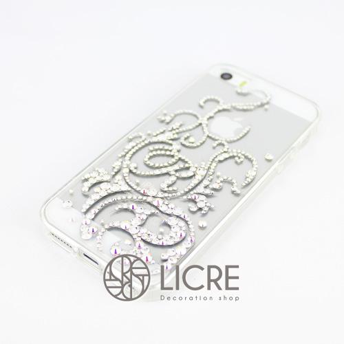 iphone5/5sケースデコレーション - Twinkle ivy B001スワロフスキーデコ
