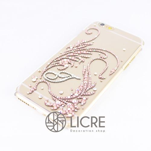 iphone6ケースデコレーション - Twinkle ivy C 002スワロフスキーデコ
