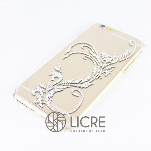 iphone6ケースデコレーション - Twinkle ivy D 001スワロフスキーデコ