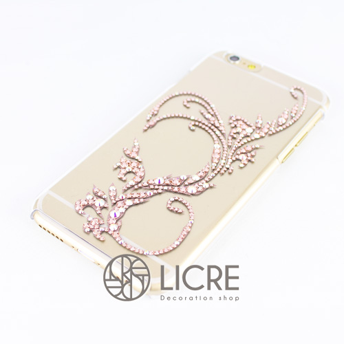 iphone6ケースデコレーション - Twinkle ivy D 002スワロフスキーデコ