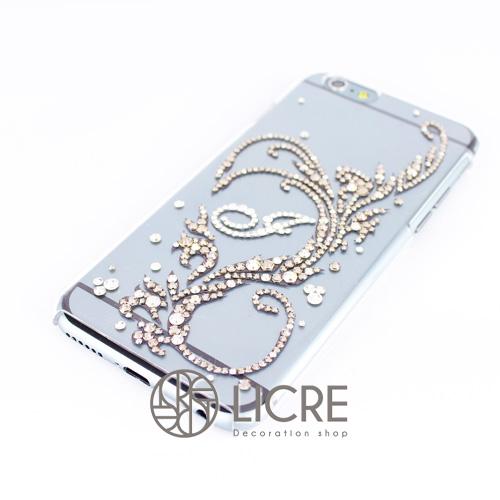 iphone6ケースデコレーション - Twinkle ivy D 003スワロフスキーデコ