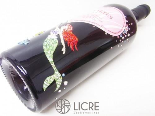 海をイメージしながら製作した特別なワインボトルデコレーション