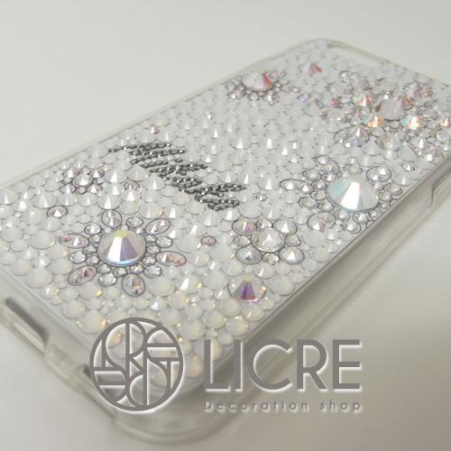 iphone6sケースへ優しいホワイトカラーに包まれたsnow flowerデコレーション