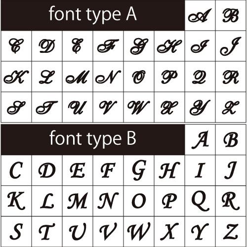 Initials(イニシャル)フォントイメージ