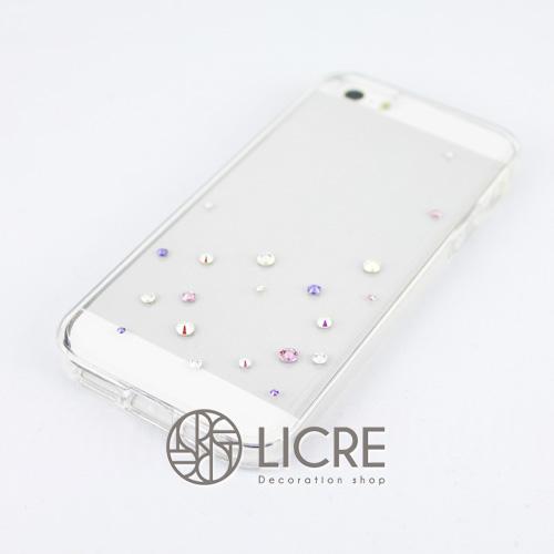 iphoneケースデコレーション - Drops20 UR-Bubble004スワロフスキーデコ