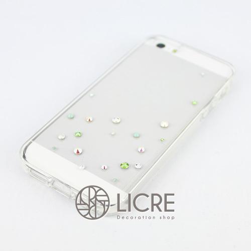 iphoneケースデコレーション - Drops20 UR-Bubble005スワロフスキーデコ