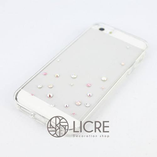 iphoneケースデコレーション - Drops20 UR-Bubble007スワロフスキーデコ