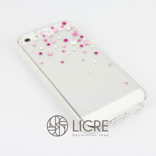 iphoneケースデコレーション - Drops50 TR-Bubble002スワロフスキーデコ