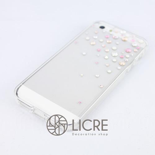 iphoneケースデコレーション - Drops50 TR-Bubble007スワロフスキーデコ