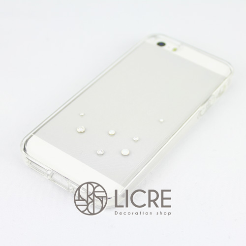 iphoneケースデコレーション - Drops7 U-Bubble001スワロフスキーデコ