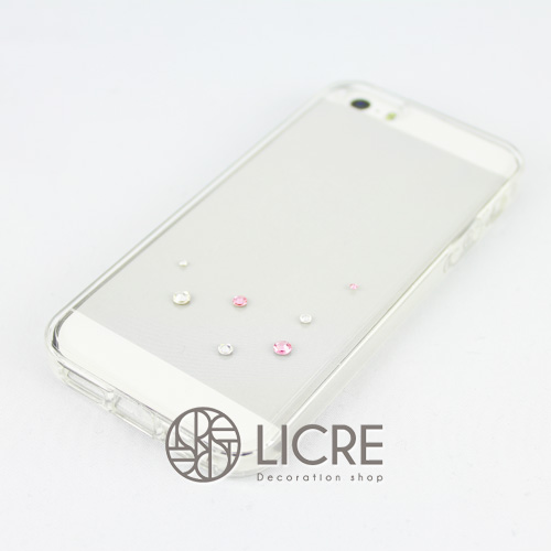 iphoneケースデコレーション - Drops7 U-Bubble002スワロフスキーデコ
