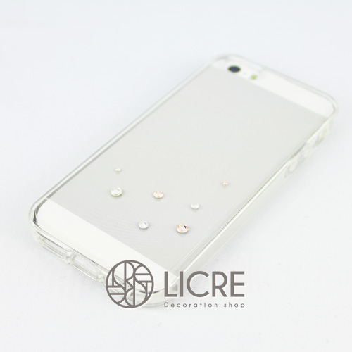 iphoneケースデコレーション - Drops7 U-Bubble003スワロフスキーデコ