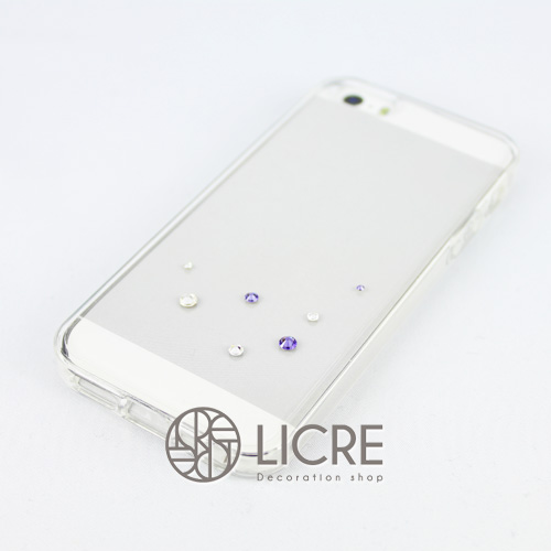 iphoneケースデコレーション - Drops7 U-Bubble004スワロフスキーデコ