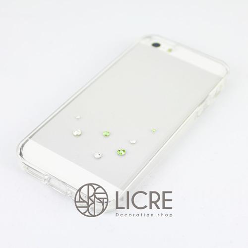iphoneケースデコレーション - Drops7 U-Bubble005スワロフスキーデコ