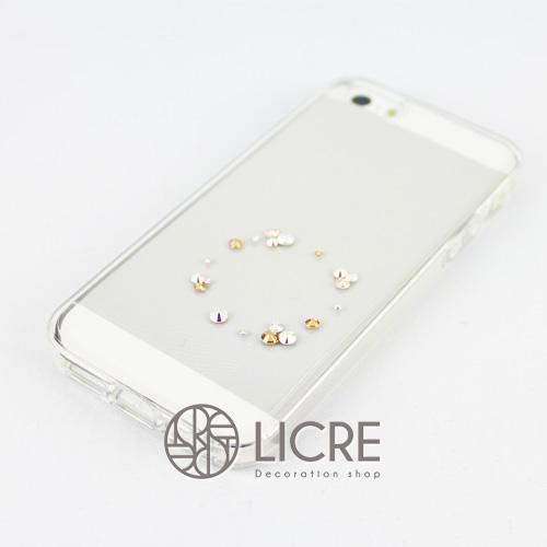 iphoneケースデコレーション - Eternity20 U-Circle003スワロフスキーデコ