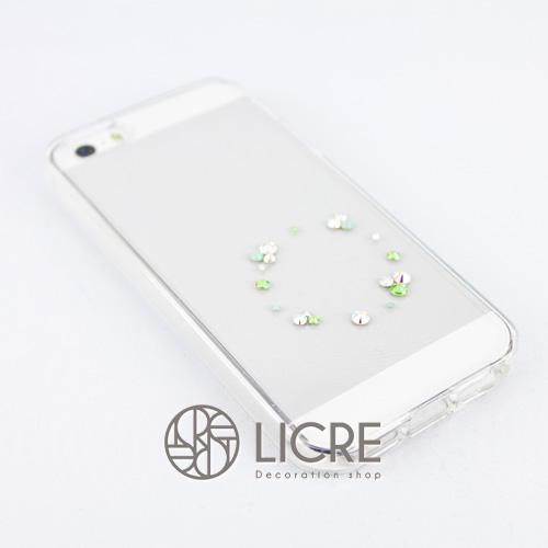 iphoneケースデコレーション - Eternity20 U-Circle005スワロフスキーデコ
