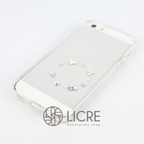 iphoneケースデコレーション - Eternity20 U-Circle006スワロフスキーデコ