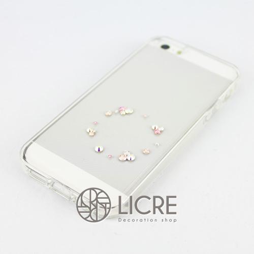 iphoneケースデコレーション - Eternity20 U-Circle007スワロフスキーデコ