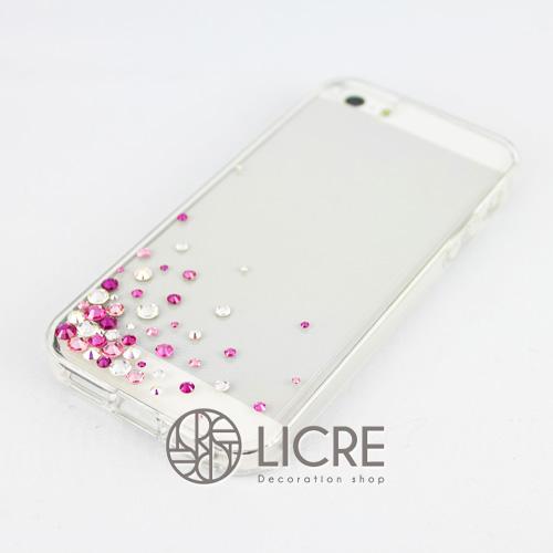 iphoneケースデコレーション - Eternity50 UL-Bubble002スワロフスキーデコ