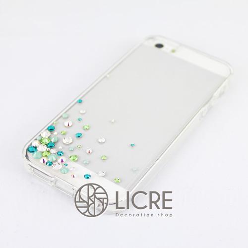 iphoneケースデコレーション - Eternity50 UL-Bubble005スワロフスキーデコ