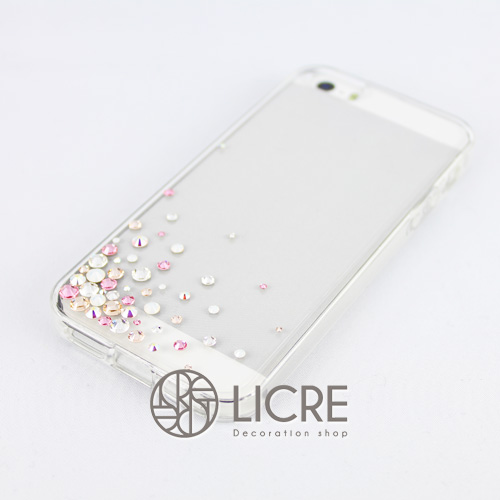 iphoneケースデコレーション - Eternity50 UL-Bubble007スワロフスキーデコ