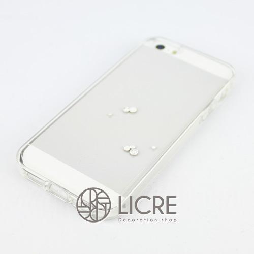 iphoneケースデコレーション - Eternity7 U-Round001スワロフスキーデコ