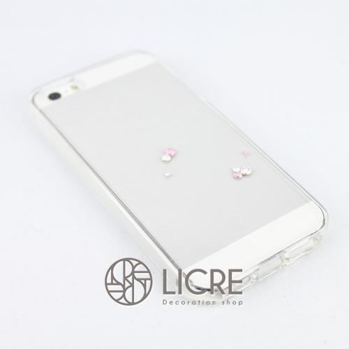 iphoneケースデコレーション - Eternity7 U-Round002スワロフスキーデコ