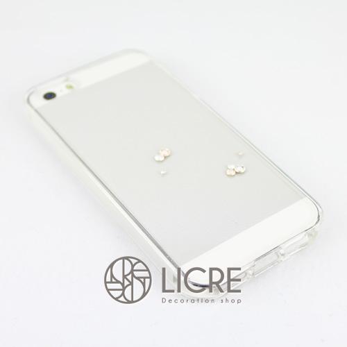 iphoneケースデコレーション - Eternity7 U-Round003スワロフスキーデコ