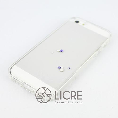 iphoneケースデコレーション - Eternity7 U-Round004スワロフスキーデコ