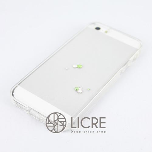 iphoneケースデコレーション - Eternity7 U-Round005スワロフスキーデコ
