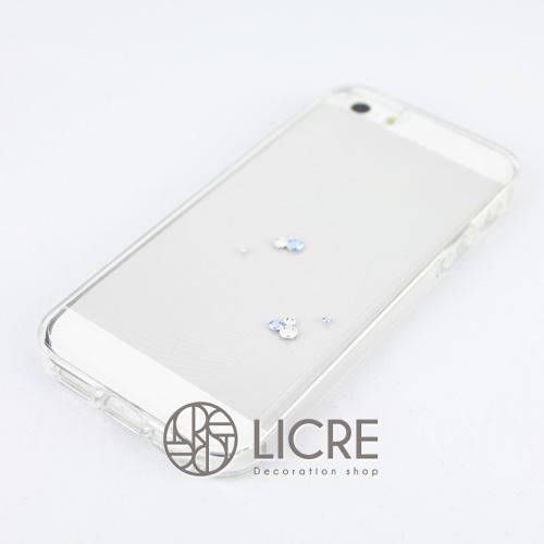 iphoneケースデコレーション - Eternity7 U-Round006スワロフスキーデコ
