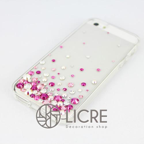 iphoneケースデコレーション - Eternity80 U-Bubble002スワロフスキーデコ