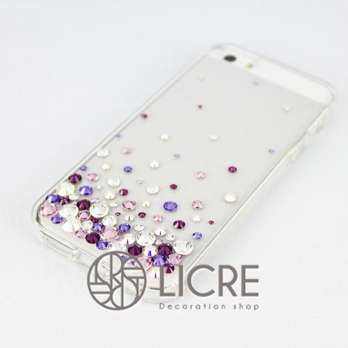 iphoneケースデコレーション - Eternity80 U-Bubble004スワロフスキーデコ