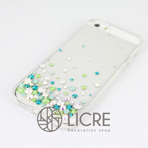 iphoneケースデコレーション - Eternity80 U-Bubble005スワロフスキーデコ