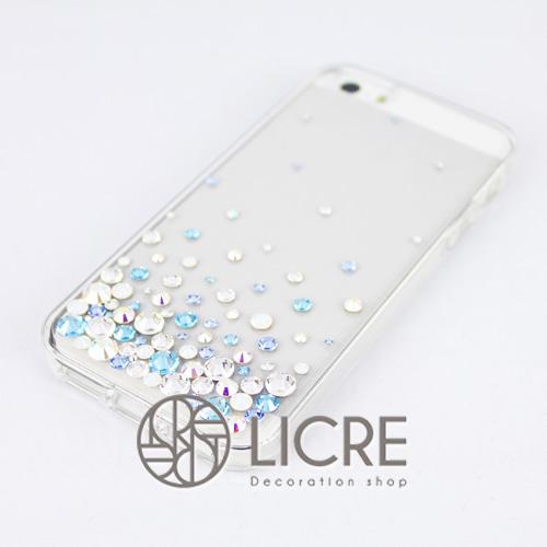 iphoneケースデコレーション - Eternity80 U-Bubble006スワロフスキーデコ