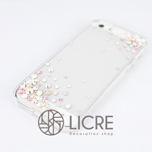 iphoneケースデコレーション - Eternity80 ULTR-Bubble007スワロフスキーデコ