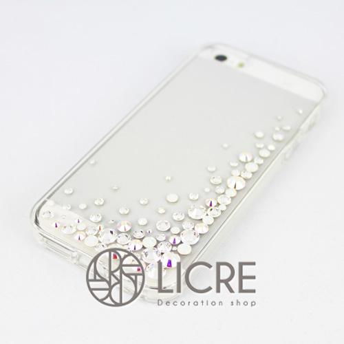 iphoneケースデコレーション - Eternity80 UR-Bubble001スワロフスキーデコ