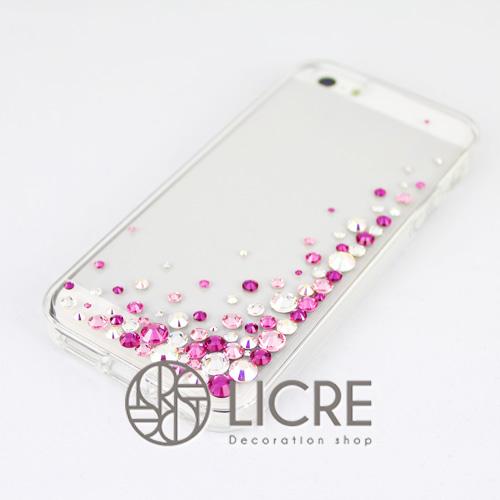 iphoneケースデコレーション - Eternity80 UR-Bubble002スワロフスキーデコ