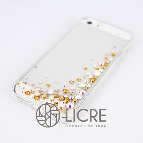 iphoneケースデコレーション - Eternity80 UR-Bubble003スワロフスキーデコ