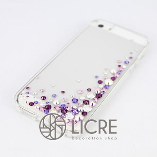 iphoneケースデコレーション - Eternity80 UR-Bubble004スワロフスキーデコ